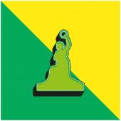 Bayern-Statue Grünes und gelbes modernes 3D-Vektor-Symbol-Logo