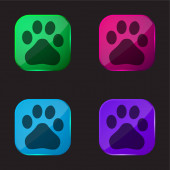 Baidu négyszínű üveg gomb ikon