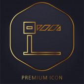 Barrier golden line premium logo or icon