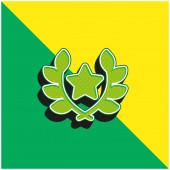 Award Green and yellow modern 3d vector icon logo