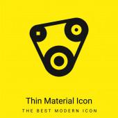 Opasek minimální jasně žlutý materiál ikona