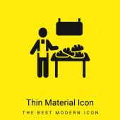 Bakery Vendor minimal bright yellow material icon