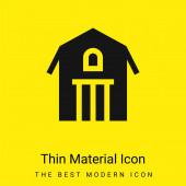Stodola minimální jasně žlutý materiál ikona