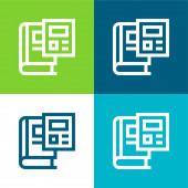 Kniha Byt čtyři barvy minimální ikona nastavena