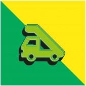 Letiště Truck Zelená a žlutá moderní 3D vektorové logo ikony