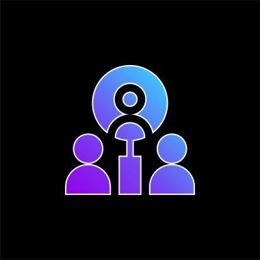 Best Employee blue gradient vector icon stock vector