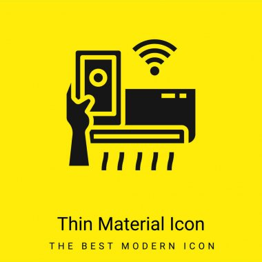 Air Conditioner minimal bright yellow material icon stock vector