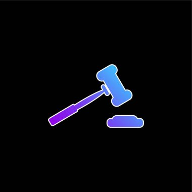 Auction Hammer Variant Tool blue gradient vector icon stock vector