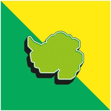 Antarctic Green and yellow modern 3d vector icon logo stock vector
