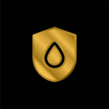 Blood Drop gold plated metalic icon or logo vector stock vector