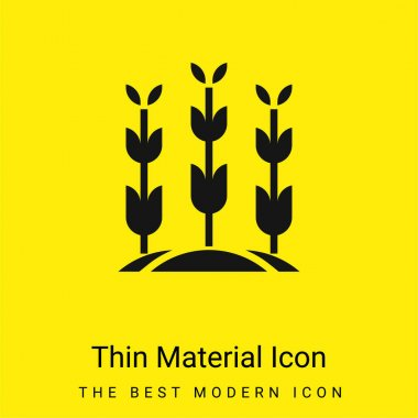Agriculture minimal bright yellow material icon stock vector