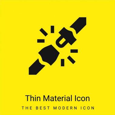 Belt minimal bright yellow material icon stock vector