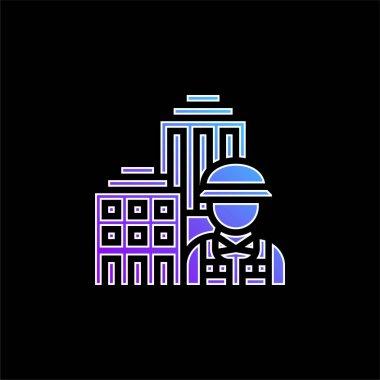 Architecture blue gradient vector icon