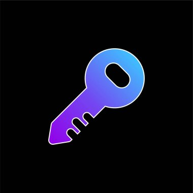 Administrator Key blue gradient vector icon stock vector