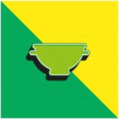 Big Bowl Zelené a žluté moderní 3D vektorové logo