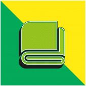 Deka Zelená a žlutá moderní 3D vektorové logo ikony