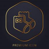 Baby Socks golden line premium logo or icon