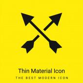 Nyíl minimális fényes sárga anyag ikon