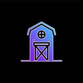 Ikona vektoru stodola modrá