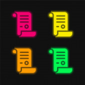 Akt vier: Leuchtendes Neon-Vektor-Symbol