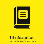 Könyv minimális fényes sárga anyag ikon