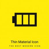 Akku-Bild mit drei Bereichen minimales helles gelbes Materialsymbol