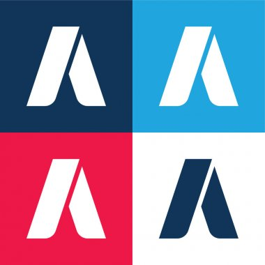 Adwords blue and red four color minimal icon set