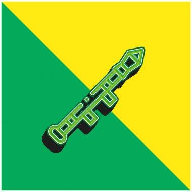 Bazooka Green and yellow modern 3d vector icon logo stock vector