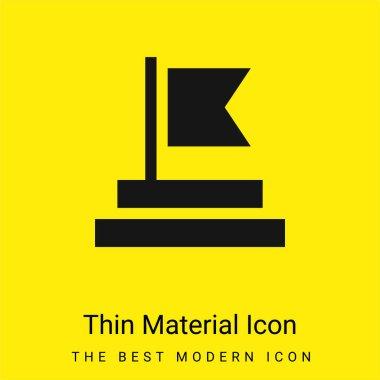 Achievement minimal bright yellow material icon stock vector
