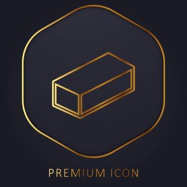 Brick golden line premium logo or icon stock vector