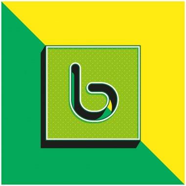 Bebo Green and yellow modern 3d vector icon logo stock vector
