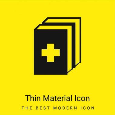 2 Medicine Kit minimal bright yellow material icon stock vector