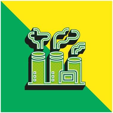 Air Pollution Green and yellow modern 3d vector icon logo stock vector