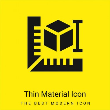3d Printer minimal bright yellow material icon stock vector