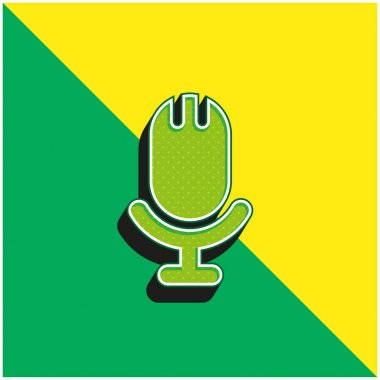 Big Microphone Green and yellow modern 3d vector icon logo stock vector