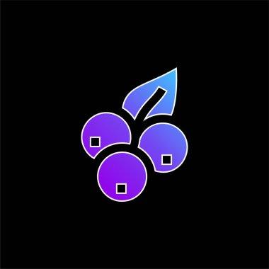 Blueberry blue gradient vector icon