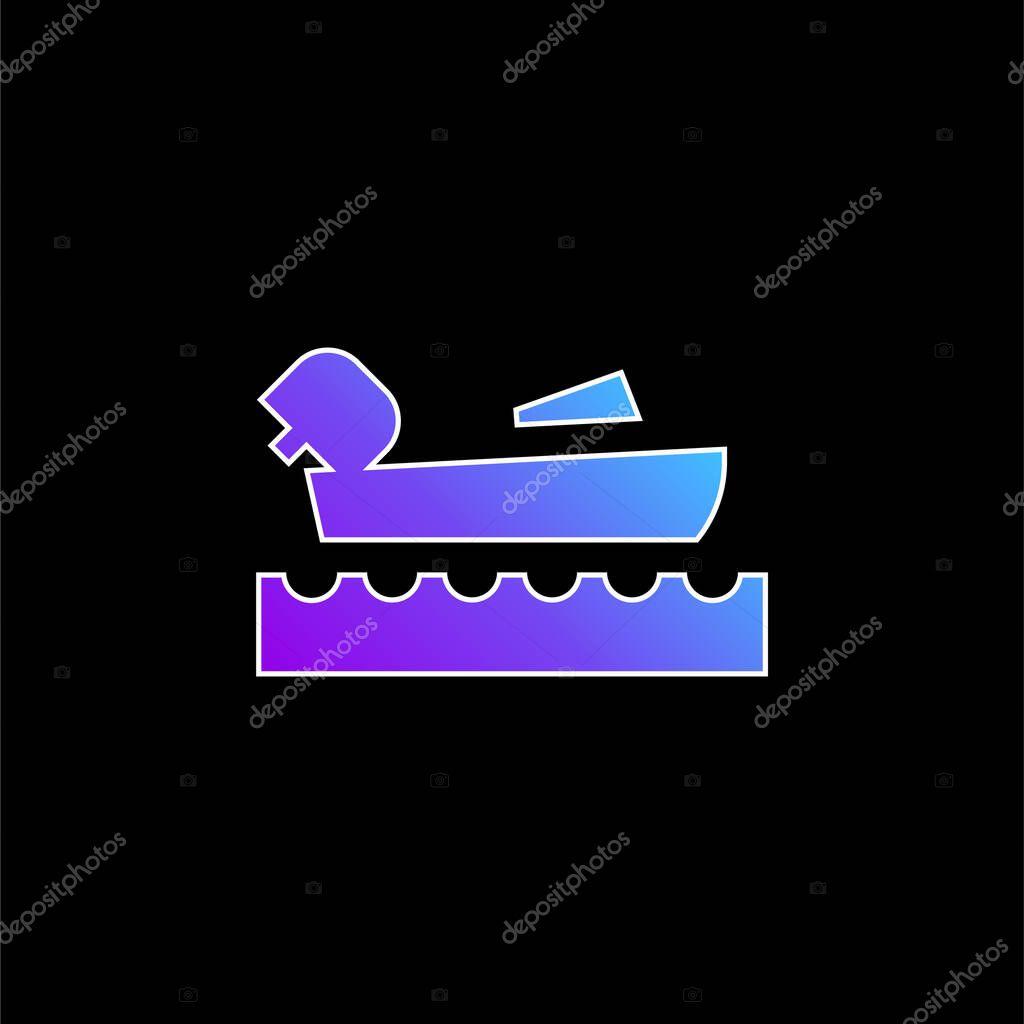 Nautica blu gradiente vettoriale icona