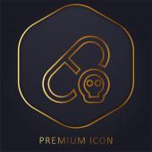 Allergische goldene Linie Premium-Logo oder Symbol