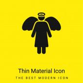 Angel minimal bright yellow material icon