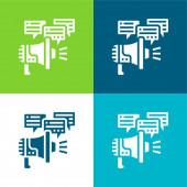 Reklama Byt čtyři barvy minimální ikona nastavena