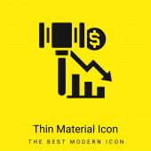 Konkurs Minimum leuchtend gelbes Material Symbol