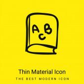 ABC vzdělávací kniha minimální jasně žlutý materiál ikona