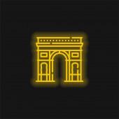 Arch Of Triumph žlutá zářící neon ikona