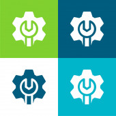 Správce Byt čtyři barvy minimální ikona nastavena