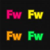 Adobe Fireworks vier Farben leuchtenden Neon-Vektor-Symbol
