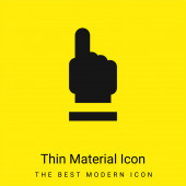 Kérjen minimális világos sárga anyag ikon