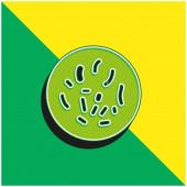 Bacteria Circle Green and yellow modern 3d vector icon logo