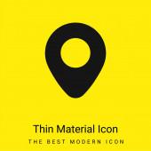 Letiště Zástupce minimální jasně žlutý materiál ikona