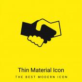 Černá a bílá třesoucí se ruce minimální jasně žlutá ikona materiálu