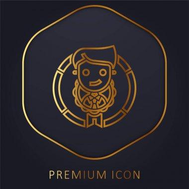 Appraisal golden line premium logo or icon stock vector